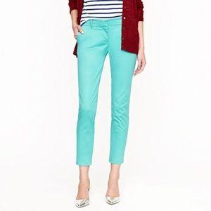 J. Crew Cafe Capri Aqua 4 Trouser Pants